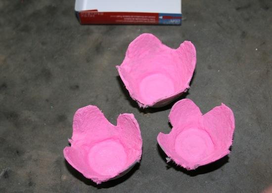 букет из яичной упаковки творчество детское мастер класс