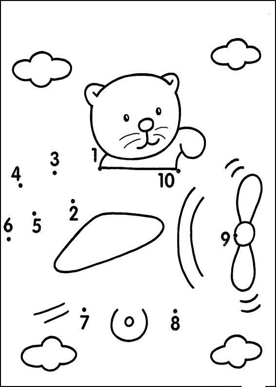рисование по точкам счет до 10