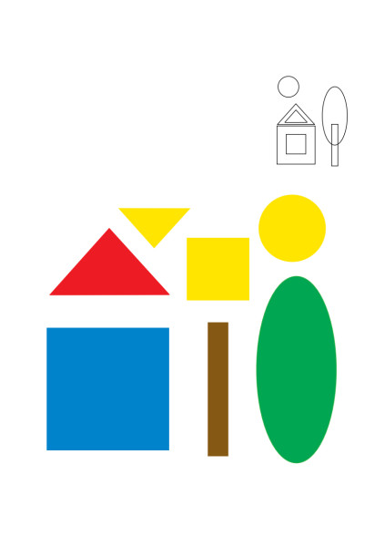 аппликация из геометрических фигур картинки