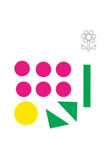 цветы из геометрических фигур