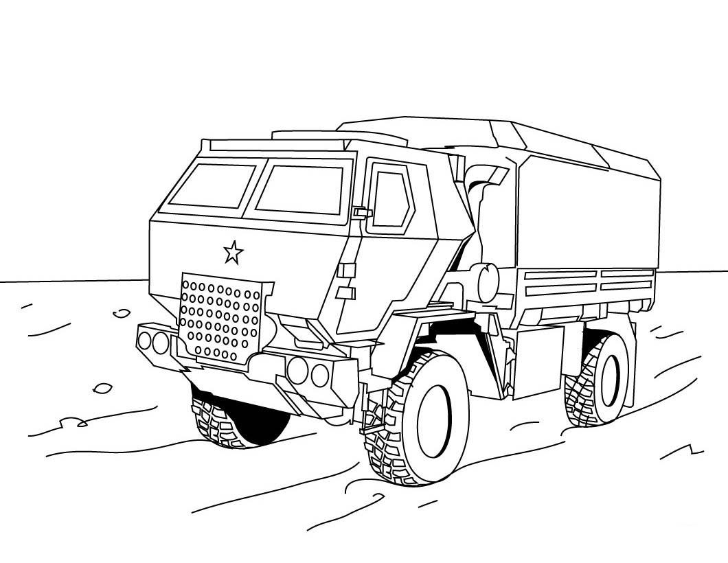 Раскраски для мальчиков грузовые машины распечатать - 4
