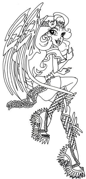 напечатать раскраски для девочек монстр хай