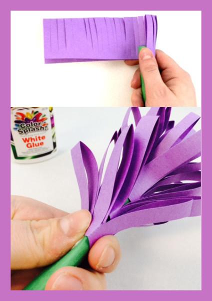 как сделать гиацинт из бумаги