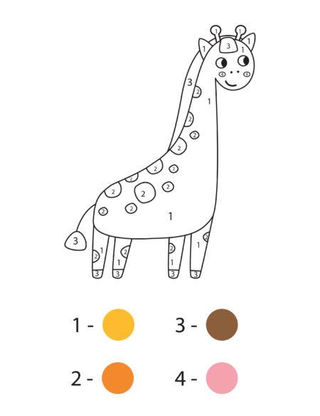 раскраска по номерам для малышей распечатать