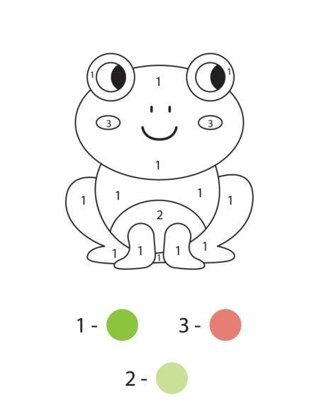 раскраски по номерам для малышей скачать