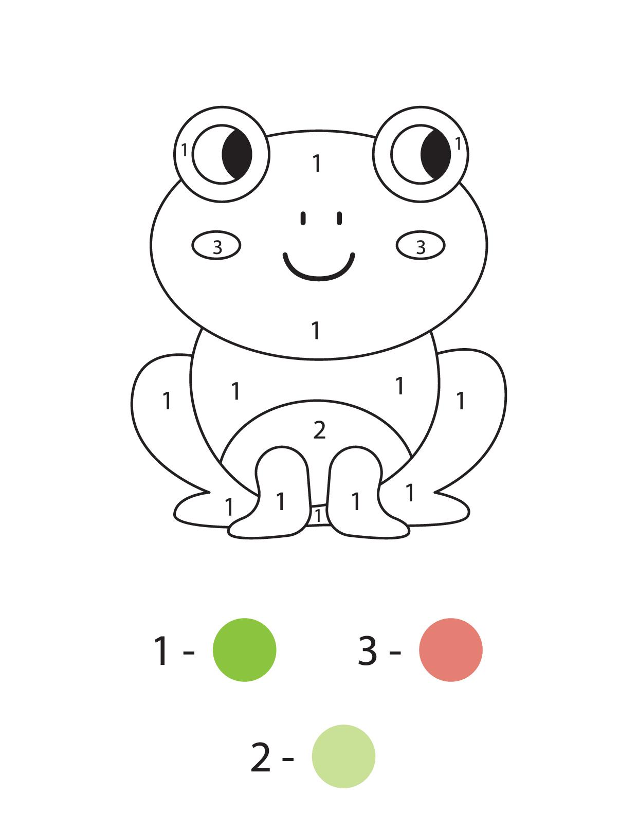 Раскраска по номерам для малышей - Tilli-Willi.ru
