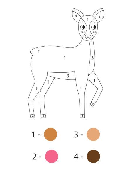 раскраска по номерам для детей