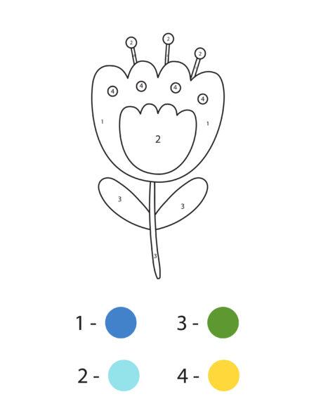 раскраски по номерам для детей 3 4