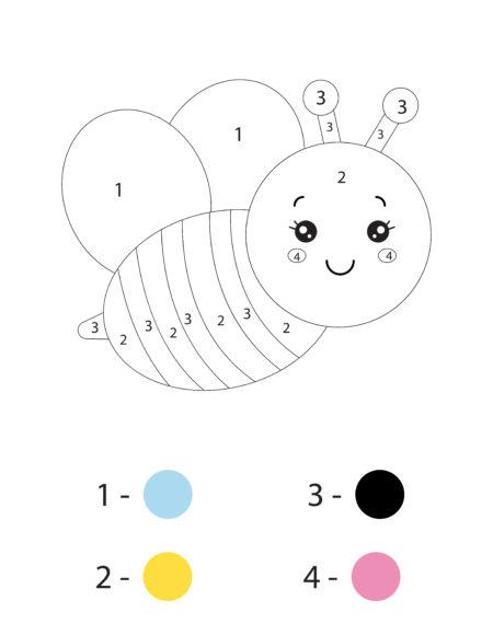 раскраска по номерам простая