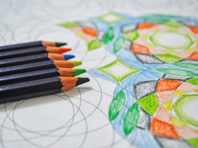геометрические узоры для раскрашивания