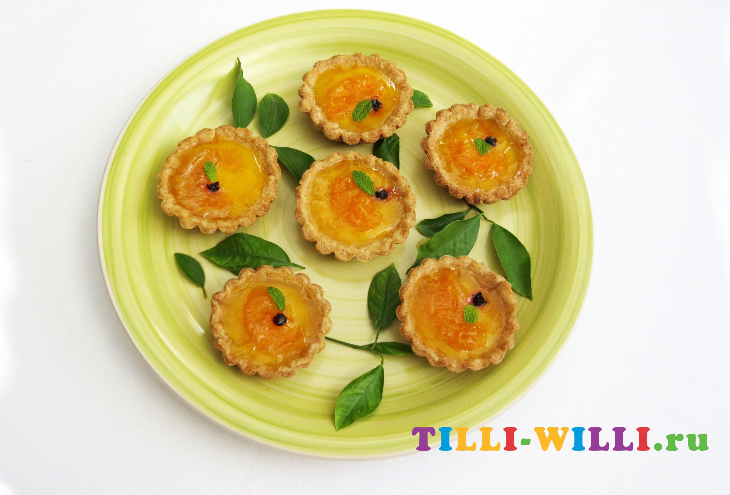 корзиночка с желе и фруктами рецепт
