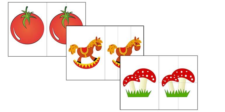 разрезные картинки для детей 2 лет