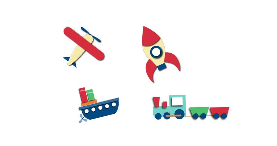 Аппликация на тему транспорт для малышей